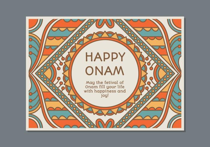 Molde do cartaz de Onam vetor