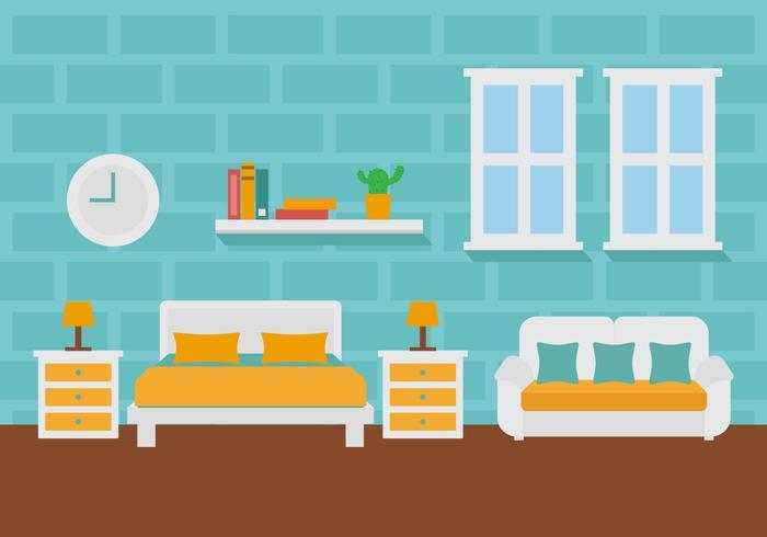 Free Room Decoração Ilustração vetorial vetor