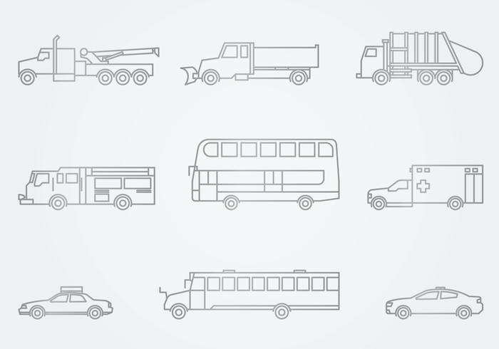 Ícone de veículos de serviço público vetor