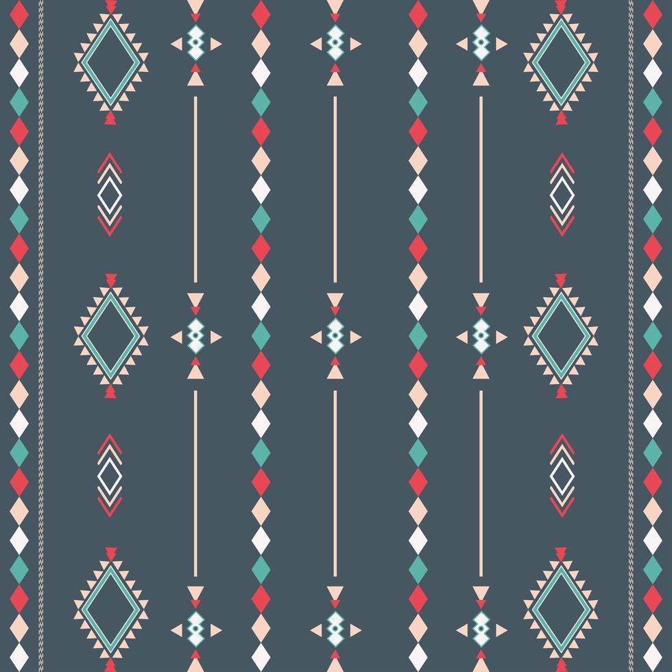 padrão tribal asteca com formas geométricas vetor