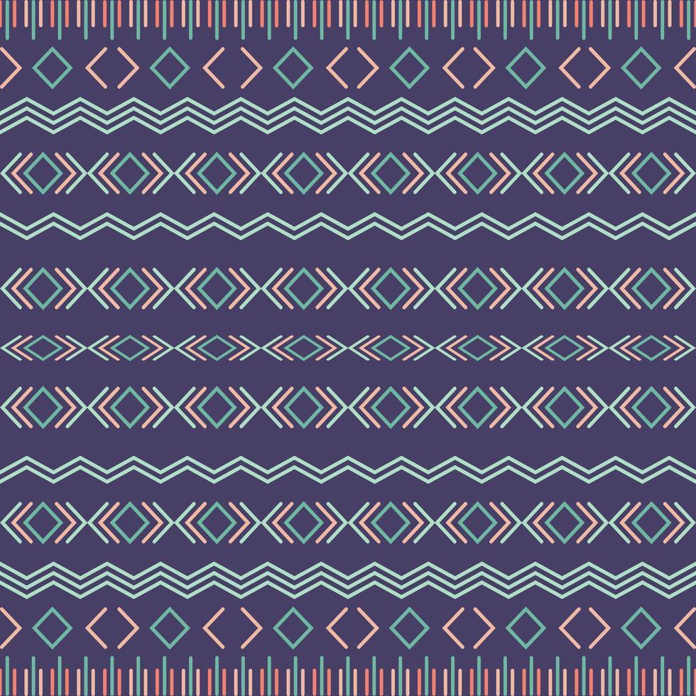 Padrão sem emenda tribal asteca com elementos geométricos vetor