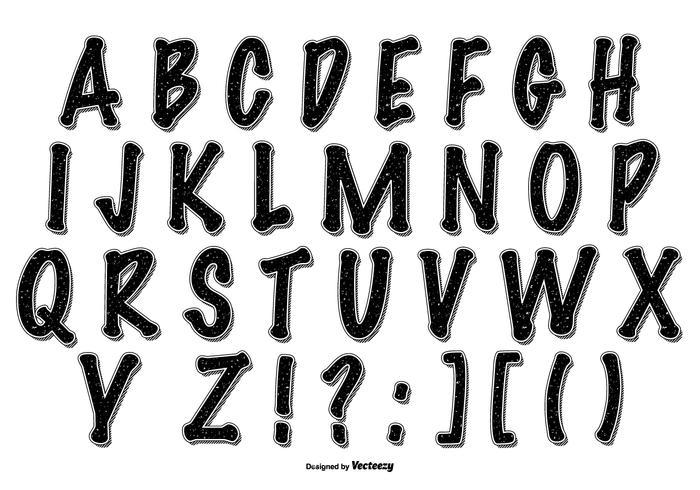 Coleção de alfabetos de estilo Grafitti vetor