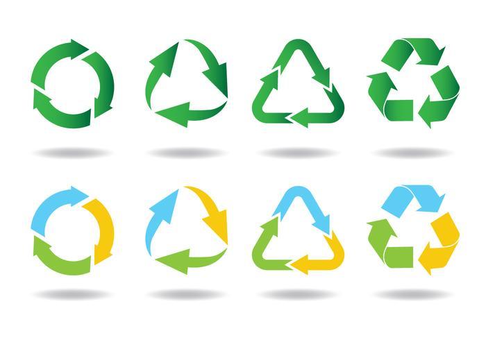 Ícone de reciclagem vetor