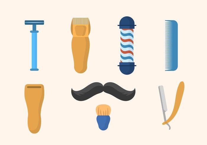 Vetores planos da barbearia