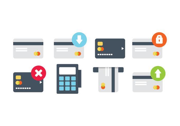 Pacote de ícones do cartão de crédito vetor