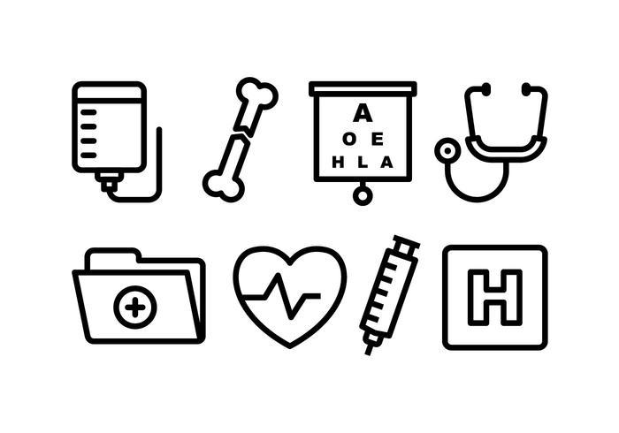 Pacote de ícones médicos vetor