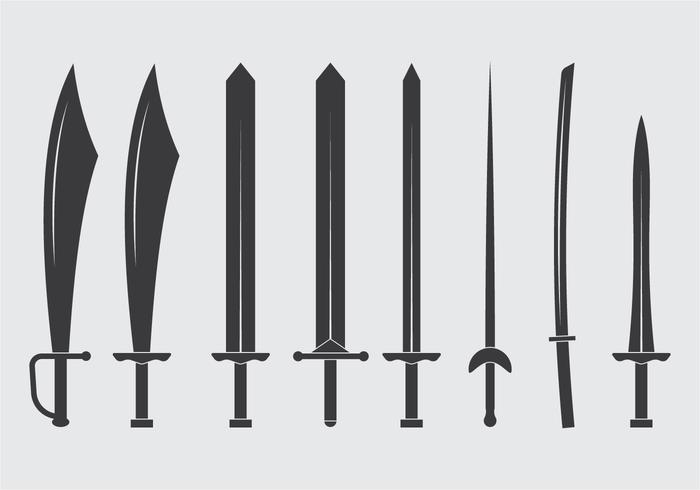 Ícone das espadas vetor