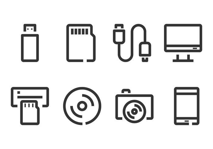 Computer Accecories e Gadget Icon vetor