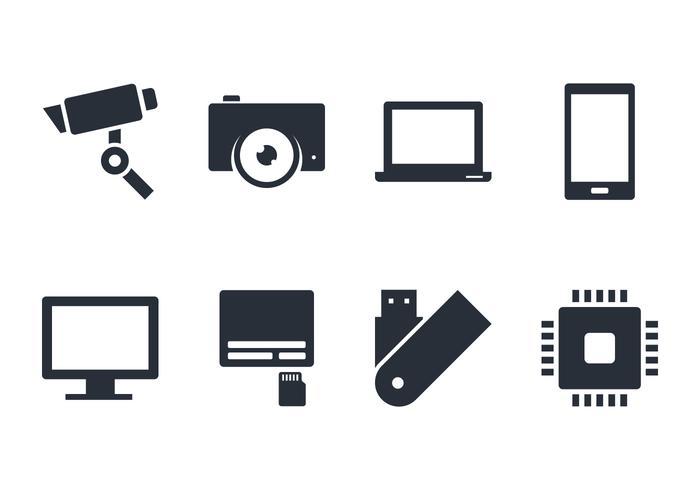Ícone Gadget e Accecories vetor