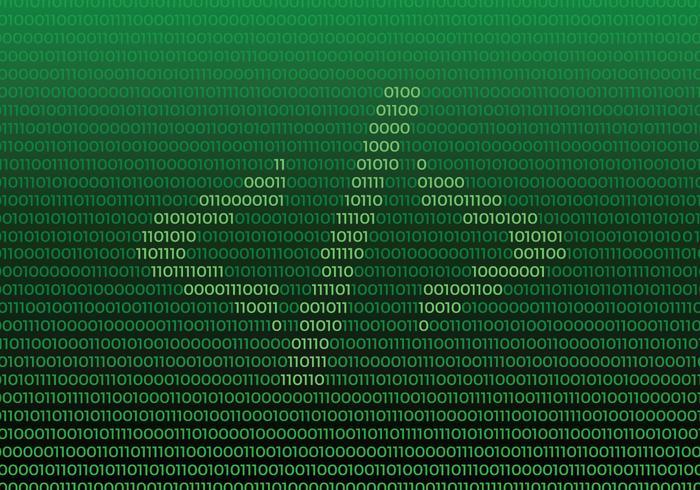 Símbolo do código fonte no fundo do número binário vetor