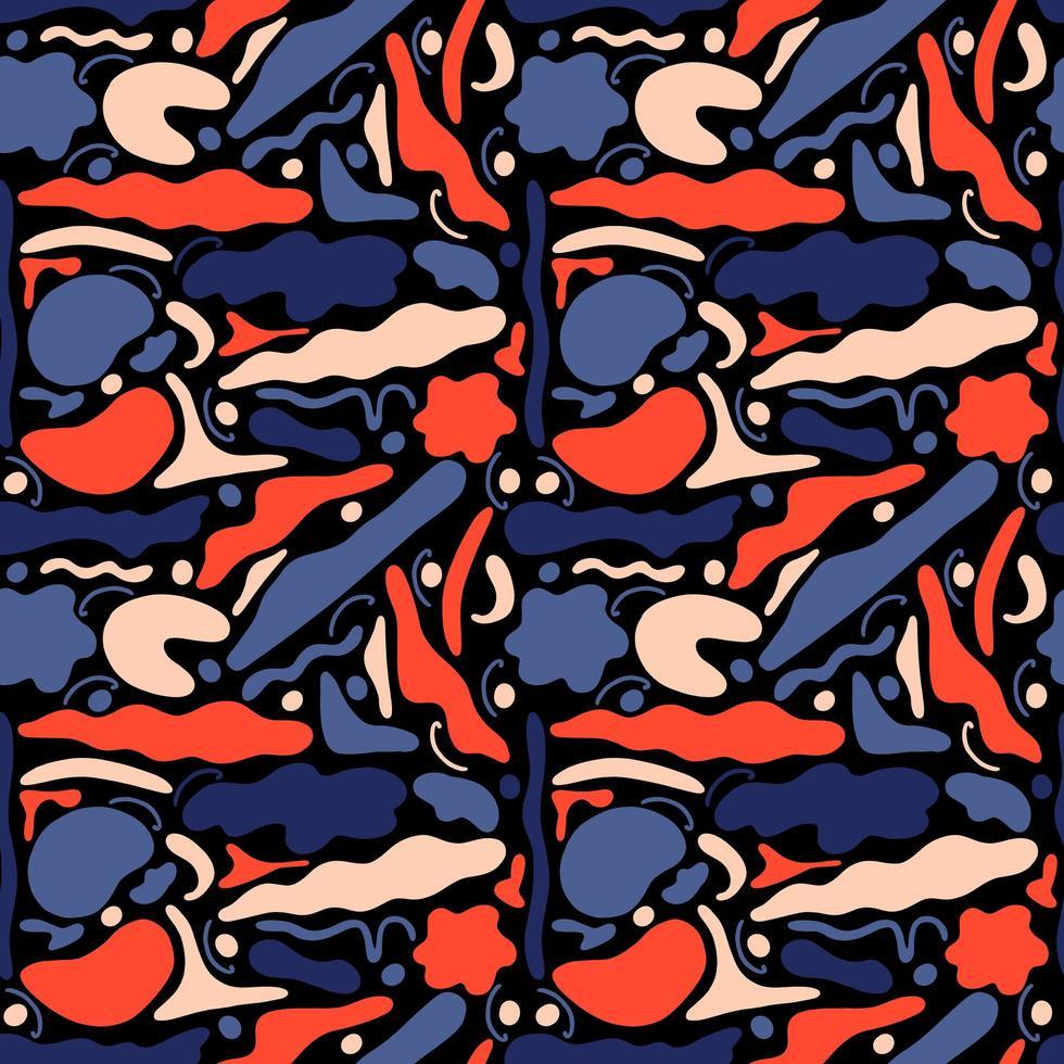 formas geométricas abstratas sem costura padrão vetor