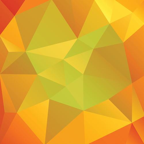 triângulos abstratos de cores de outono vetor