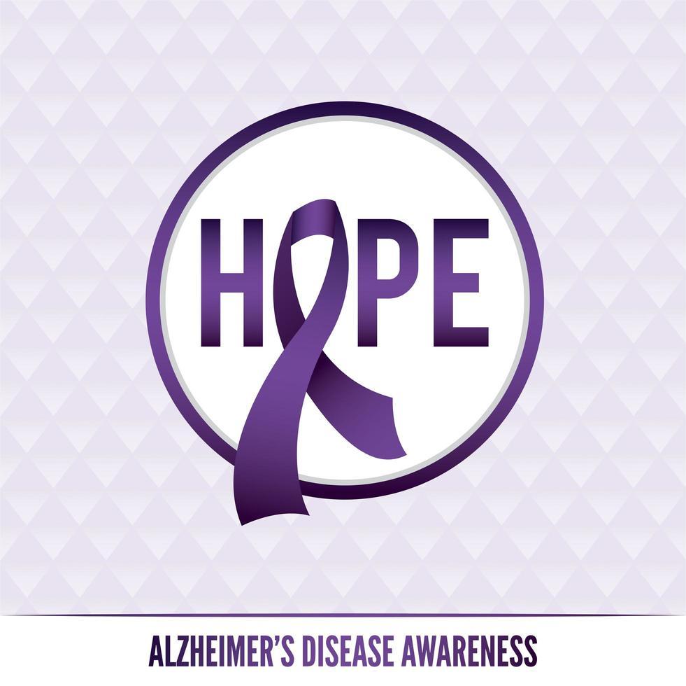 crachás e fitas de conscientização sobre a doença de Alzheimer vetor