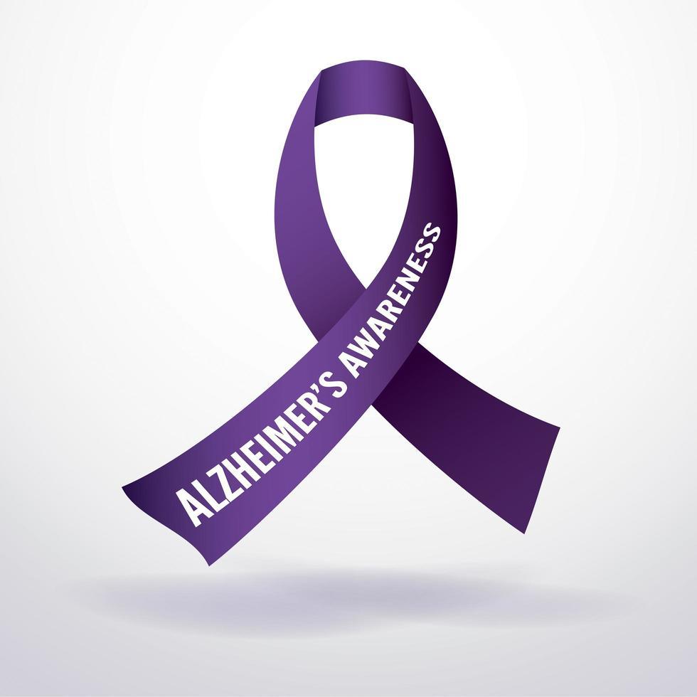 fita de conscientização sobre a doença de alzheimer vetor