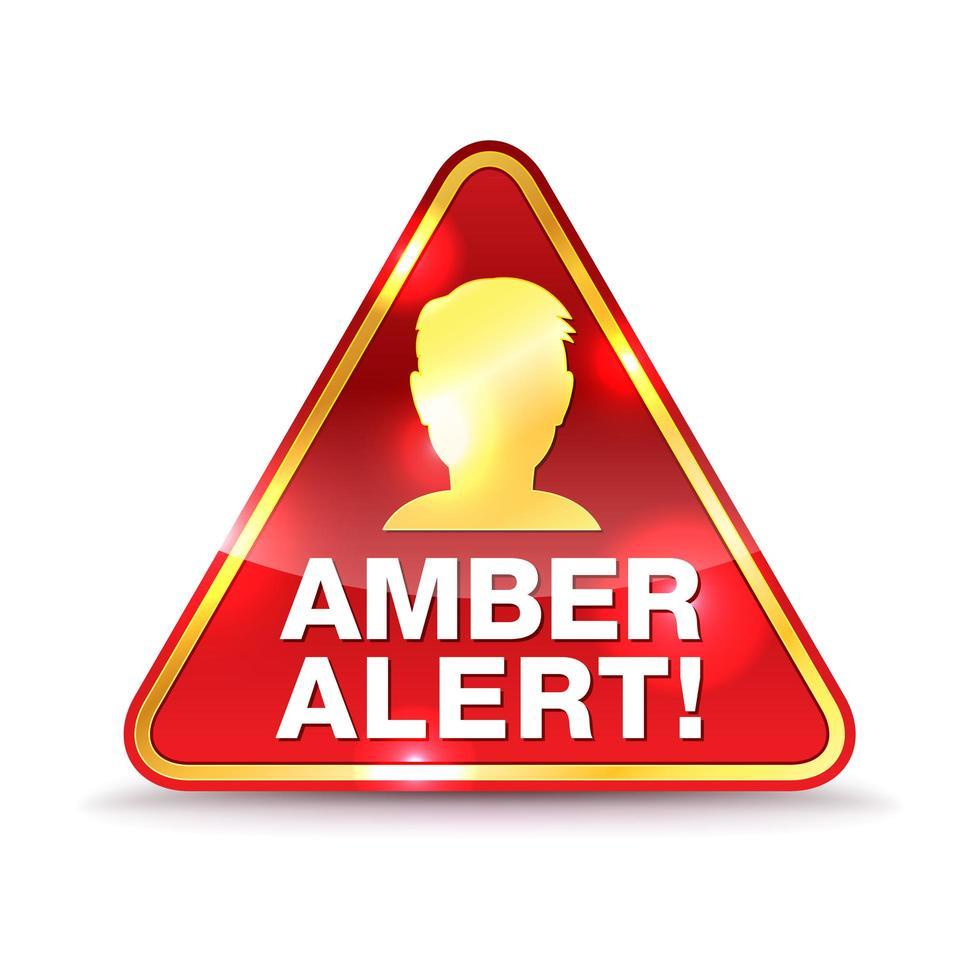 ícone de alerta de alerta âmbar vetor