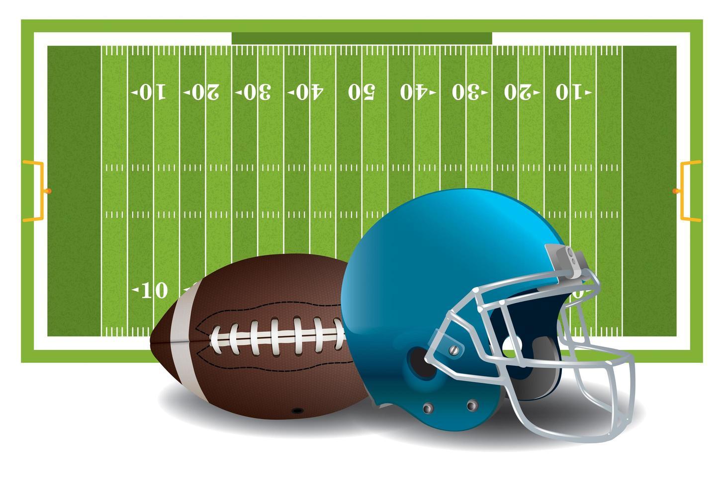 elementos de futebol americano vetor