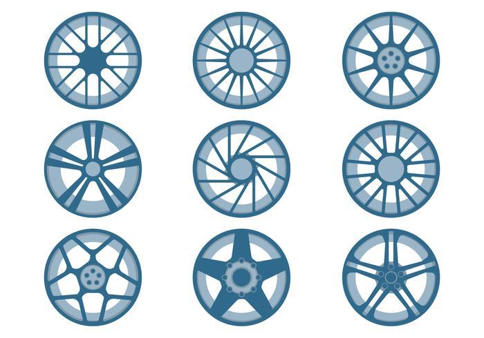 Rodas do carro vetor