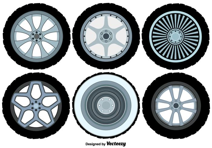 Conjunto de rodas de liga de vetores