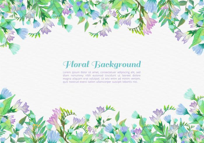 Fundo de flores pintadas de vetores grátis