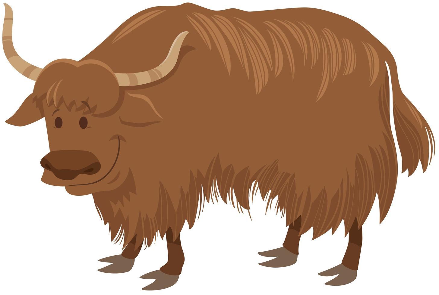 yak cartoon personagem animal selvagem vetor