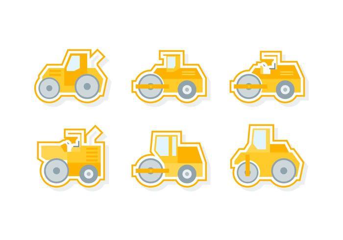 Vetores de carros de construção pendentes gratuitos