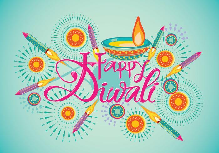 Firecracker Colorido para Diwali Holiday Fun vetor