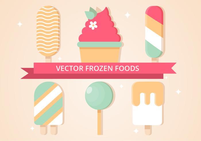 Frutas congeladas de sorvete de vetores grátis
