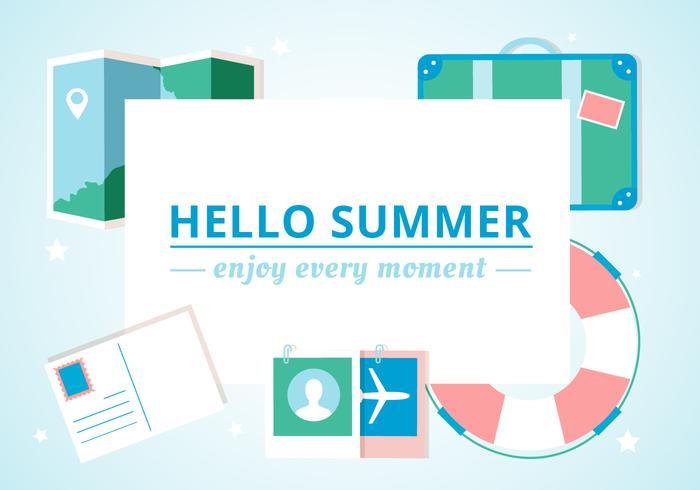 Fundo de verão do vetor de design grátis