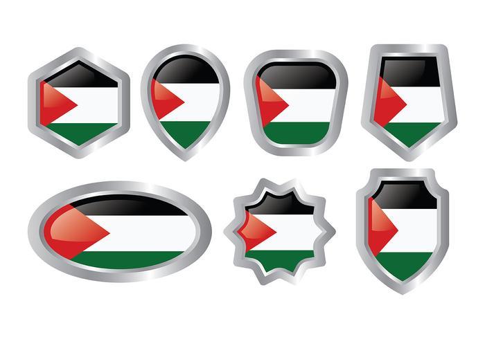 Ícones de vetores de Gaza