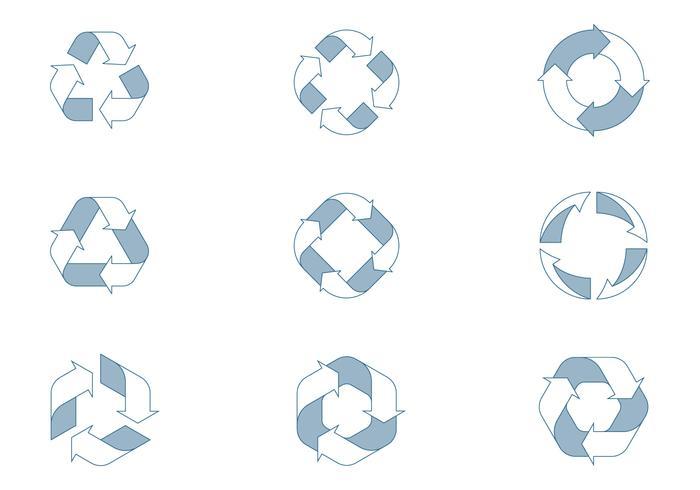 Ícones do ciclo de vida vetor