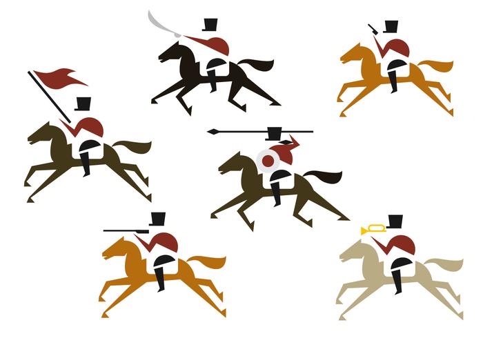 Vector de ilustração de cavalaria
