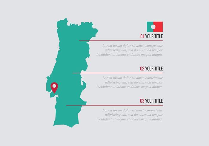 Portugal Vermelho E Verde vetor