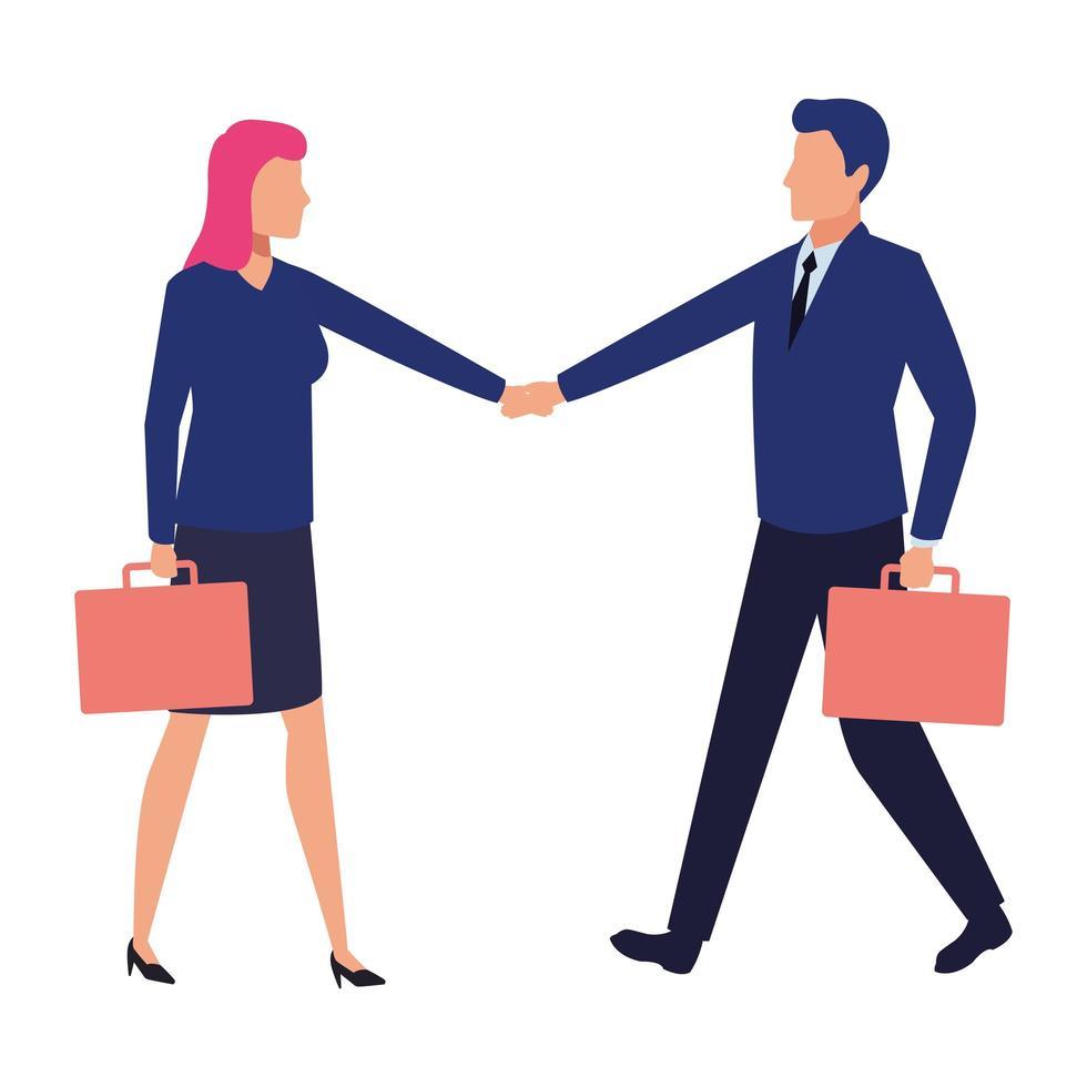 empresários trabalhando juntos vetor