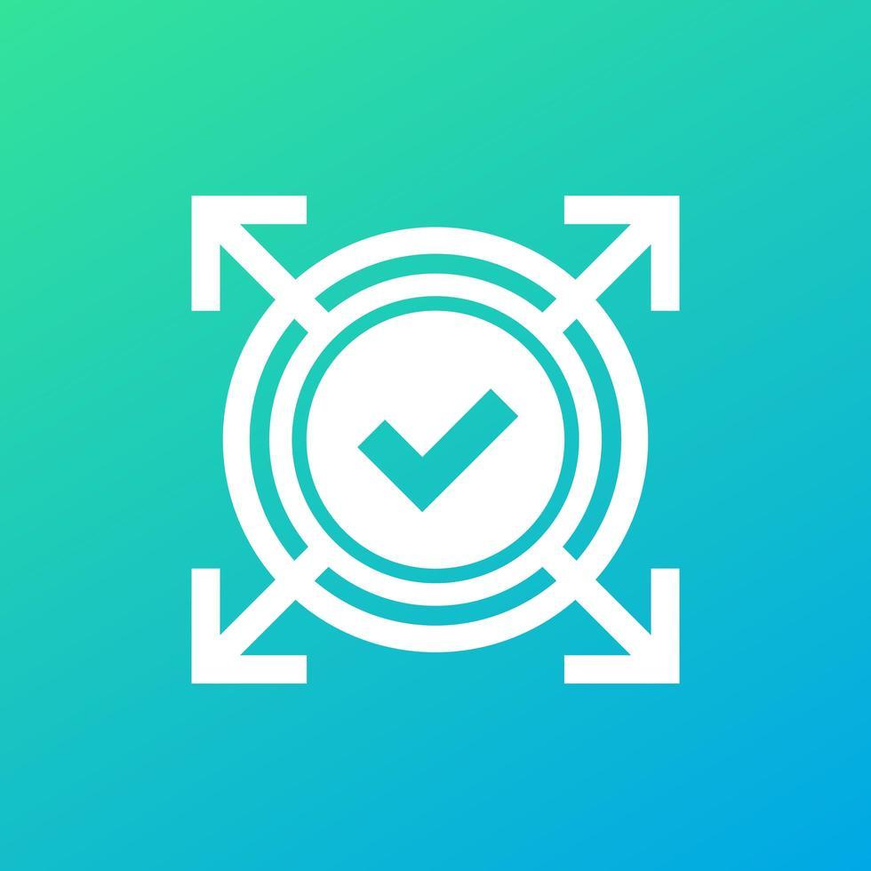 expandir ícone com marca de seleção vetor