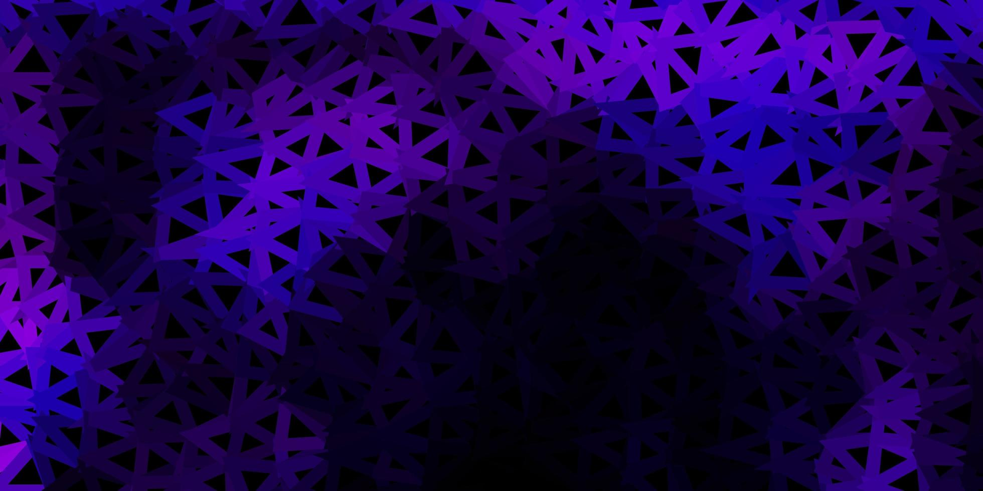 textura de triângulo poli roxo escuro. vetor