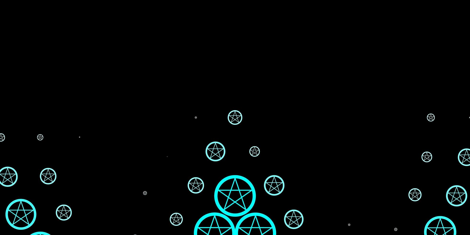 modelo azul escuro com sinais esotéricos vetor