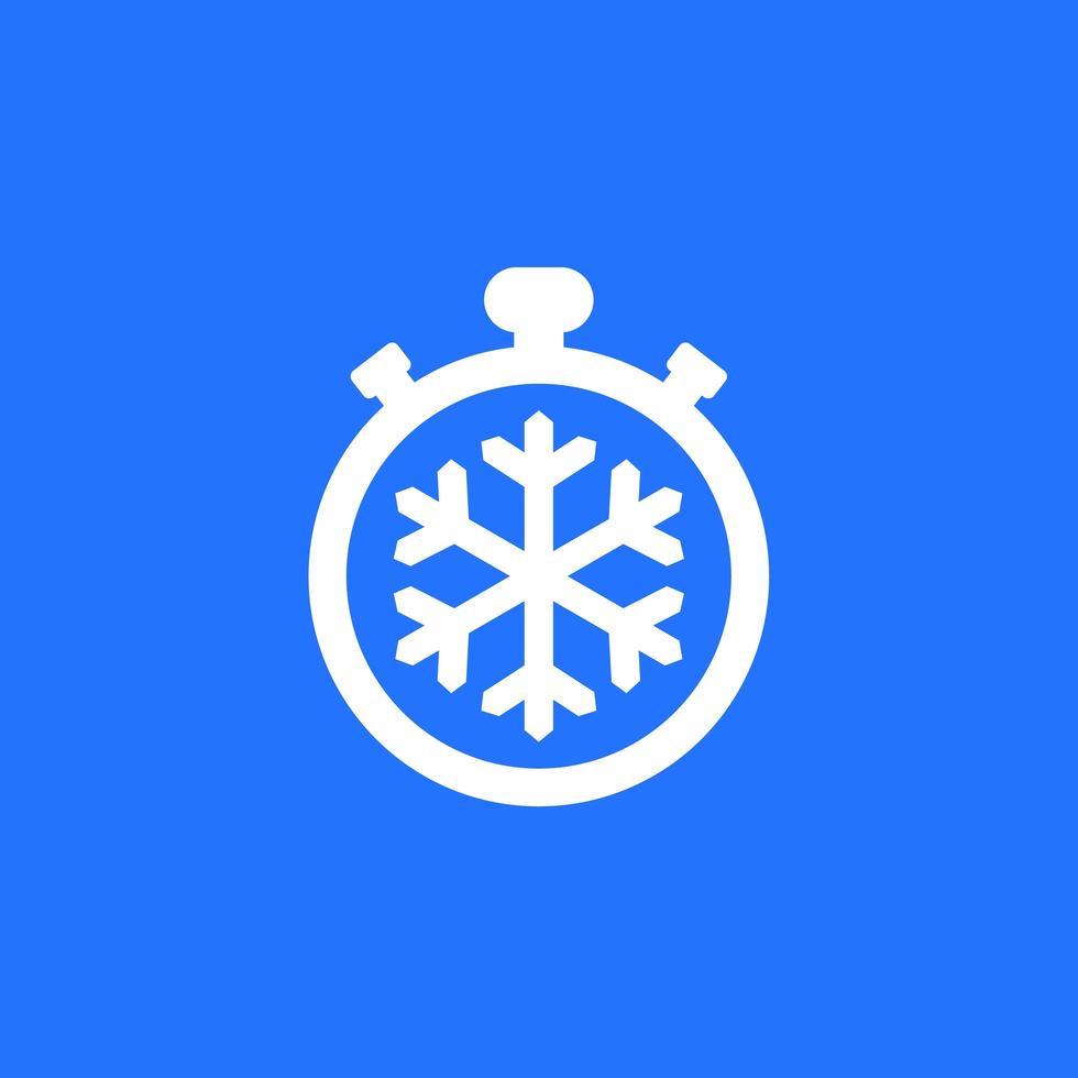 ícone de congelamento com temporizador vetor