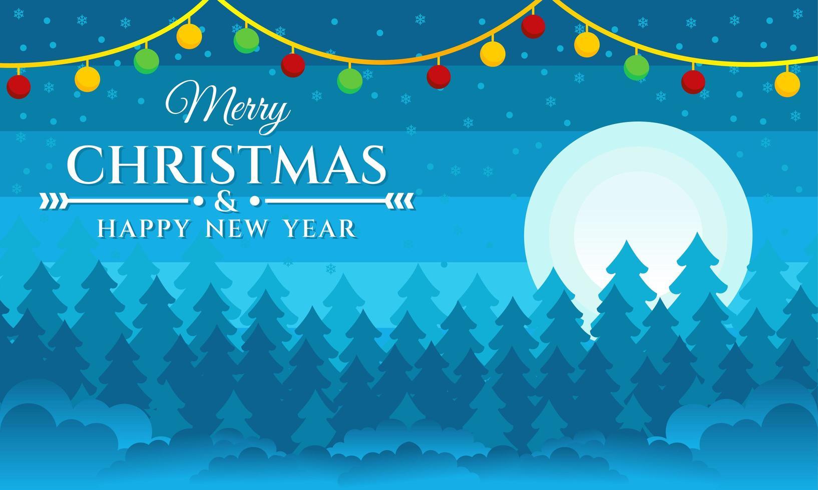 fundo feliz natal e feliz ano novo vetor