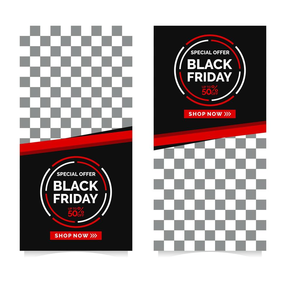 modelo de design de banner black friday vetor