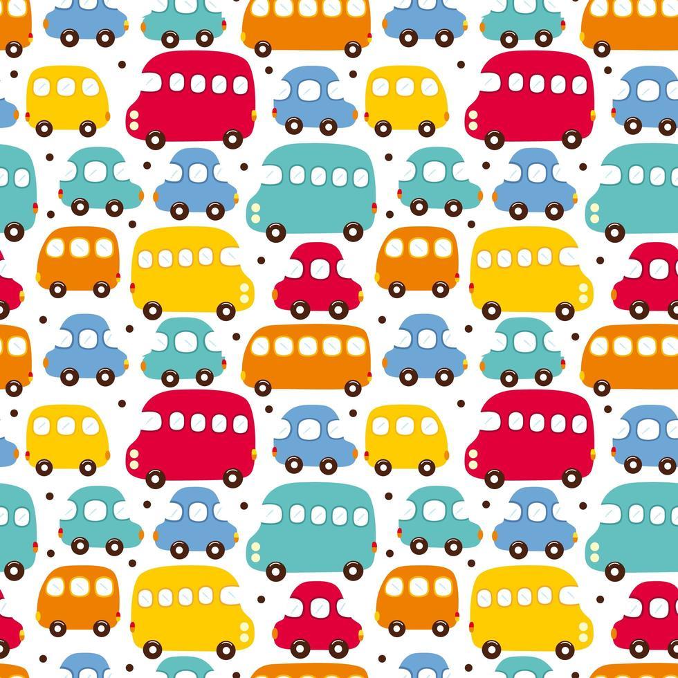 fundo de carro colorido vetor