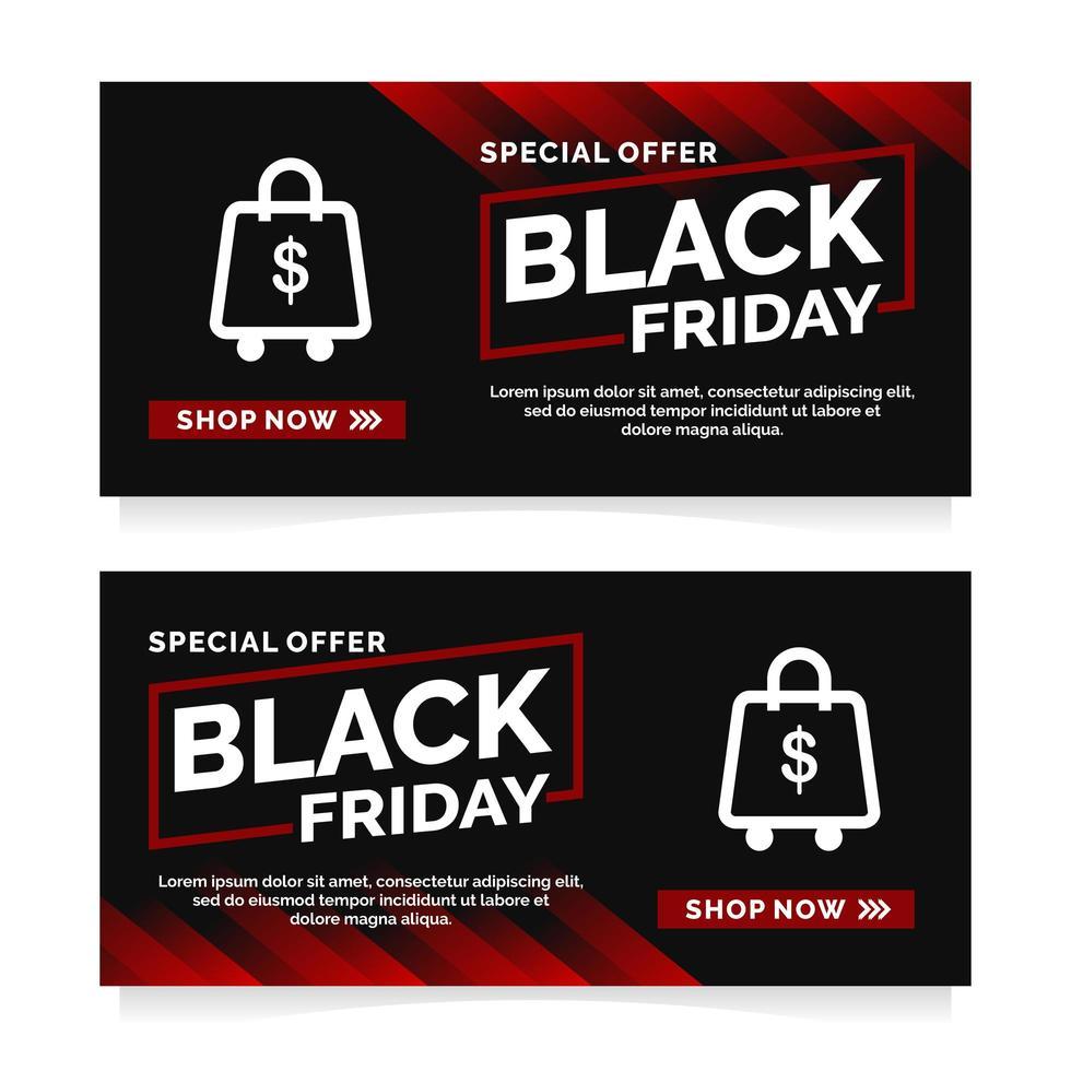 modelo de design de banner black friday vetor