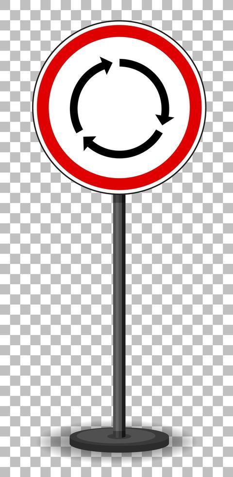 sinal de trânsito vermelho em fundo transparente vetor