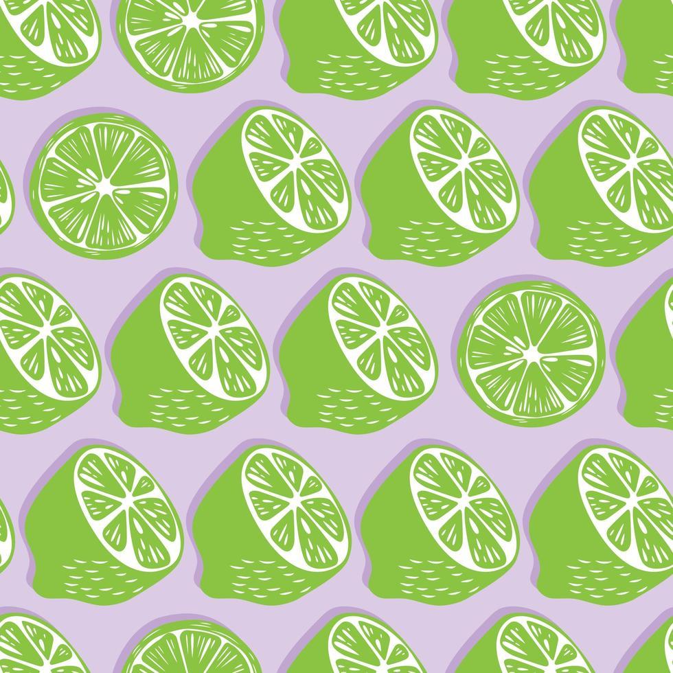 metades e fatias de limão com sombra de fundo. vetor