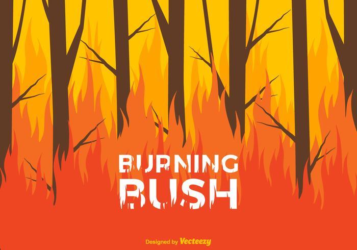 Fundo do vetor Bush ardente