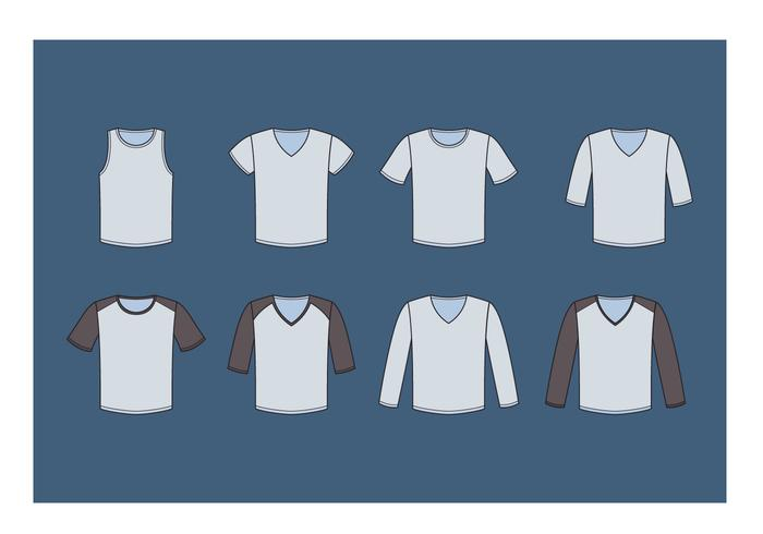 Coleção V-Neck Shirt Vector