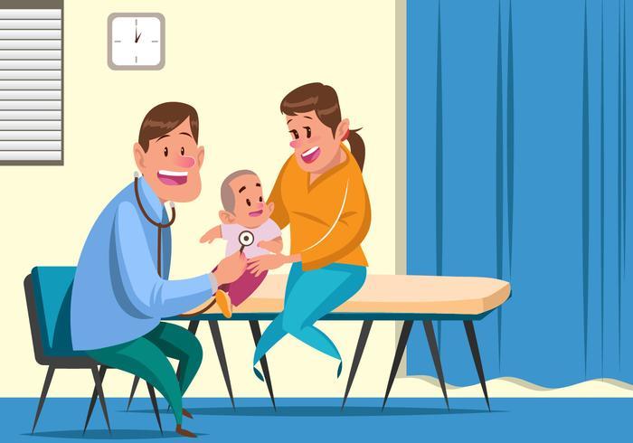 Vector de pediatria infantil