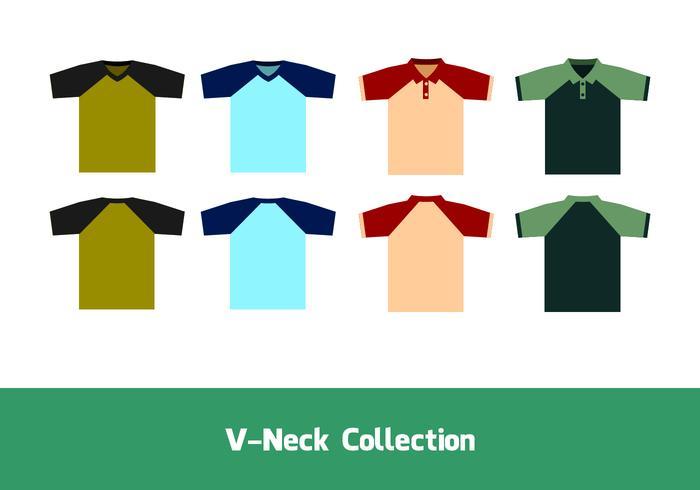 V-neck raglan free vector