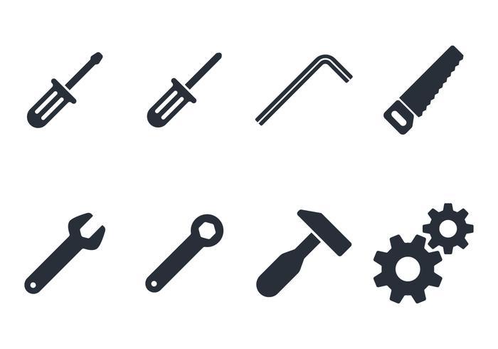 Conjunto de ícones de ferramentas vetor