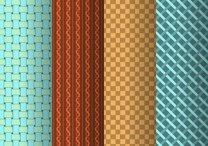 Coleção de trapo e tecido tecido vetor