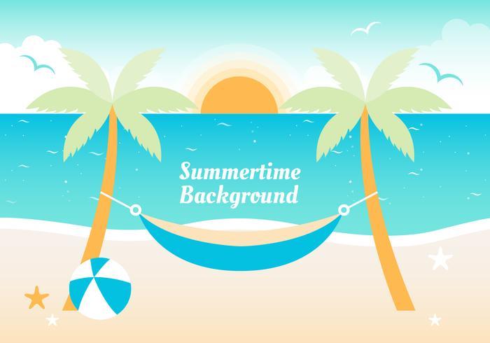 Fundo de vector de verão plano gratuito